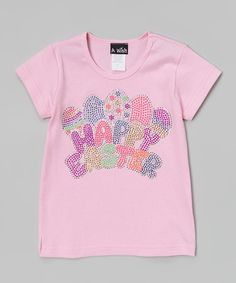 Look what I found on #zulily! Pink 'Happy Easter' Egg Tee - Toddler & Girls by A Wish #zulilyfinds