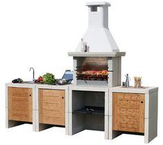 barbecue da esterni in muratura - Cerca con Google | Hornos ...