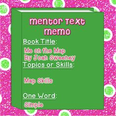 Literacy Spark: Mentor Text Linky - Me on the Map