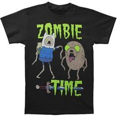 Adventure Time Mens Zombie Time T-shirt Small Black @ niftywarehouse.com #NiftyWarehouse #Geek #Fun #Entertainment #Products