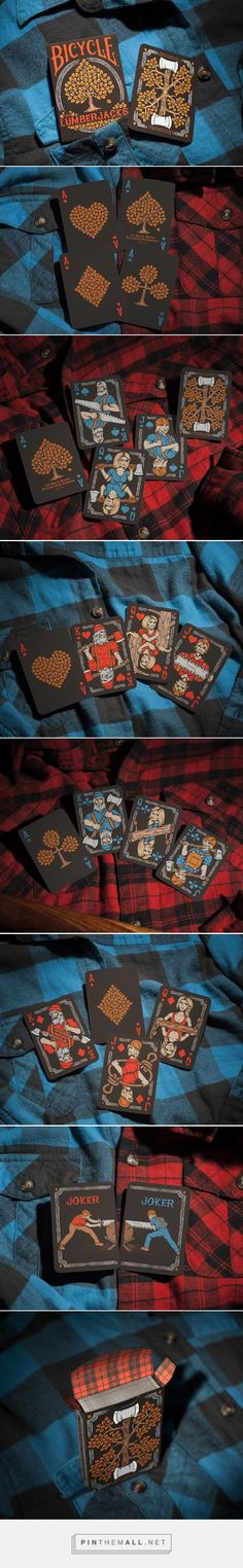 The #Lumberjacks 2nd Edition #PlayingCards #packaging designed by Vadim Smolenskiy - http://www.packagingoftheworld.com/2015/06/the-lumberjacks-2nd-edition-playing.html