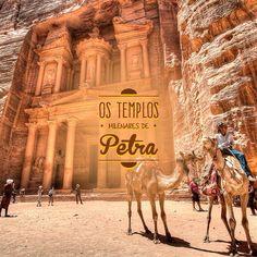 """Publicação para Facebook para a página da Maxtur agência de turismo, desenvolvido junto a NNcorp. """"Petra é o principal destino turístico da Jordânia, e guarda, escondida por cânions e montanhas, uma cidade milenar repleta de templos e tumbas esculpidos na rocha. Entre em contato conosco e encontre os melhores preços para esta viagem a um dos lugares mais antigos habitados pelo homem #petra #templos #jordania #maxtur"""""""