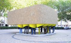 Pop-up 'Centipede Cinema' is Made With Locally-Sourced Cork From Portugal | Inhabitat -Very creative! Popup Republic