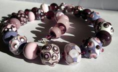 necklace with handmade lamwork beads