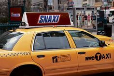 """Best Ads Ever On A Taxi - Back in Snickers created a campaign around a new language they called """"Snacklish."""" Almost all the made-up words fell flat — except for this one. Taxi Advertising, Made Up Words, Best Ads, Experiential, Vocabulary, Campaign, Marketing Ideas, Ottawa, Evolution"""