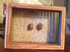 Peter Pan Shadow Box. Acorn and Thimble glued on the passage from Peter Pan about acorn and thimble kisses.