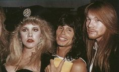 Steven Tyler (Aerosmith) with Stevie Nicks (Fleetwood Mac) and Axl Rose (Guns N Roses)