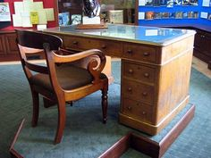 CS LEWIS wrote The Chronicles of Narnia while seated at this desk.  How cool is that?