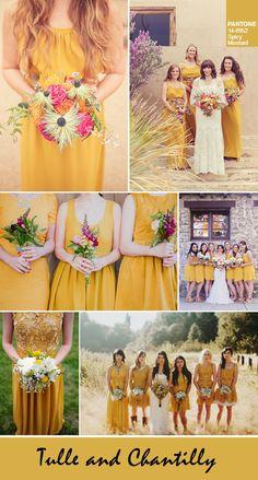 pantone top 10 colors for autumn bridesmaid dresses