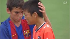 Barcelona under-12s console Japanese squad after beating them in World Challenge
