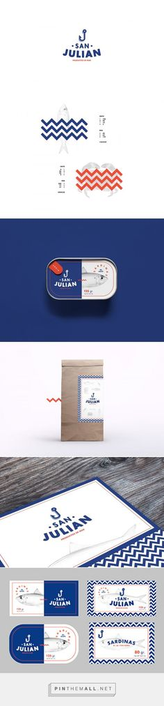 San Julian on Behance by Pablo Martínez Díaz. Buenos Aires, Argentina curated by Packaging Diva PD. Diseño de marca y packaging para pescadería San Julian. Art direction, graphic design, branding, packaging.: