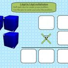 This is a one slide freebie.  Students will roll the dice to create their multiplication problem. They will use the pens to solve it. It can be u...