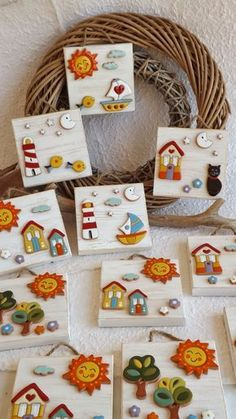 ceramica come mestiere: QUADRI - Hobbies paining body for kids and adult Polymer Clay Crafts, Diy Clay, Polymer Clay Jewelry, Hobbies And Crafts, Diy And Crafts, Crafts For Kids, Clay Wall Art, Clay Art, Driftwood Crafts