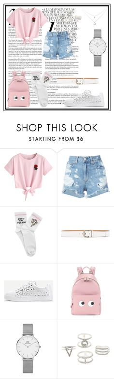 """Don't cry for him"" by seouljin ❤ liked on Polyvore featuring Whiteley, WithChic, rag & bone/JEAN, Yeah Bunny, Calvin Klein Jeans, Anya Hindmarch, Daniel Wellington and Charlotte Russe"