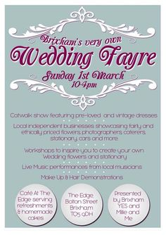 Did you go to the Wedding Fayre in Brixam on March 1st?  Pop over to our blog and take a look at what you missed out on...