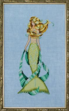 Luce Mia - La Petite Mermaids Collection From Mirabilia Design - Nora Corbett - Cross Stitch Charts - Cross Stitch Charts - Casa Cenina Small Cross Stitch, Cross Stitch Letters, Cross Stitch Kits, Cross Stitch Charts, Mermaid Cross Stitch, Mill Hill Beads, Wings Design, Pony Beads, Fabric Scraps