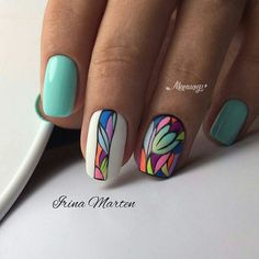 strong pastel nails enriched with beautiful decoration 44 Spring Nails, Summer Nails, Nagellack Trends, Pastel Nails, Colorful Nails, Hot Nails, Nagel Gel, Stylish Nails, Flower Nails