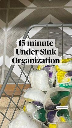 Fridge Organization, Sink Organizer, Household Organization, Home Organization Hacks, Organizing Home, Hall Closet Organization, Condo Kitchen, Kitchen Redo, Casa Clean