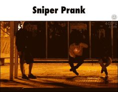 I can't stop watching this lol. Sniper prank
