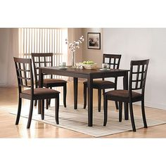 This set of chairs is the perfect addition to your home with its stylish versatility. This furniture features an attractive finish for elegance.
