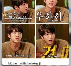 idk about y'all but i live for jin's dad jokes