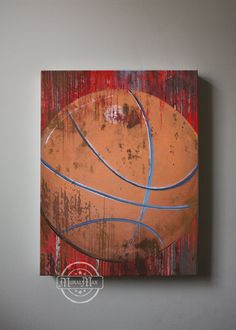 Vintage Basketball Canvas Reproduction ,Vintage Sports Canvas Art , Art for Children Kids Wall Art, All Star Wall Hanging,Boys Room Art,