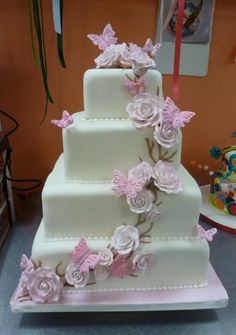 Butterfly wedding cake I love!