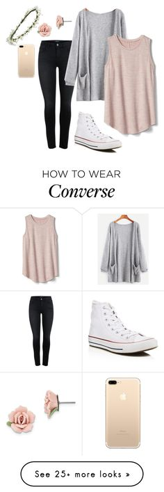 """Cool Breezes"" by ambroselove on Polyvore featuring Gap, Converse, 1928 and Emily Rose Flower Crowns"
