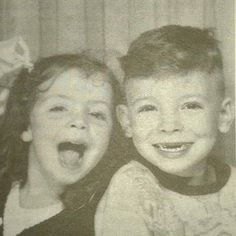 Bruce and his sister (Sooo cuuuteee! <3)