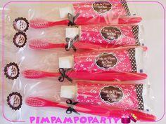 0kit festa do pijama pink preto kit2 kit higienebucal1