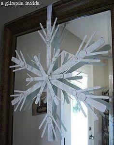 Large Snowflake DIY