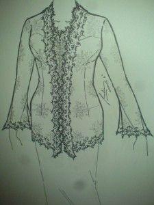 kebaya sketch