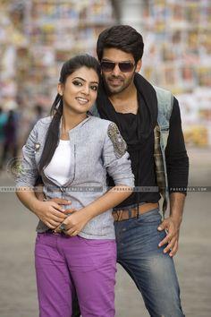 Still from the movie Raja Rani starring Malayalam actress Nazriya Nazim and Tamil actor Arya