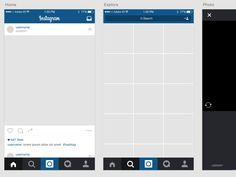 Instagram iOS Template freebie for Adobe XD - Design Mine Resources for the Adobe Experience Design CC software.