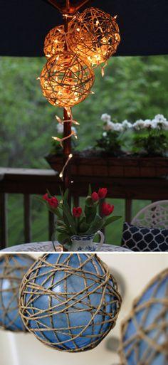 Easy DIY Craft Lighting Projects | DIY String Lantern by DIY Ready at http://diyready.com/21-diy-outdoor-lantern-ideas/
