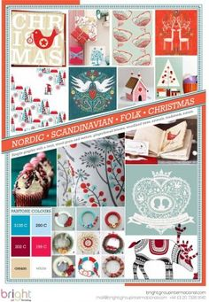 Scandinavian folk Christmas palette