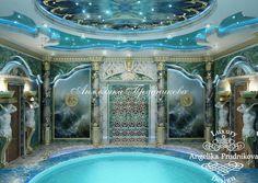 Hammams from studio antonovich design indoor swimming - Decor oriental design interieur luxe antonovich ...