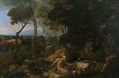 Poussin. Paisaje con San Pablo Ermitaño - Colección - Museo Nacional del Prado