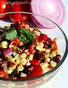 lime roasted corn salad