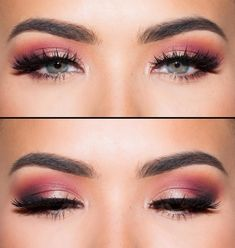 abiball make-up pink-pink-highlights-blaue-augen a What's Makeup ? What is Makeup ? Generally speaking, what is makeup ? Makeup For Burgundy Dress, Black Dress Makeup, Prom Makeup For Brown Eyes, Pink Eye Makeup, Make Makeup, Burgundy Hair, Gold Makeup, Red Hair, Skull Makeup