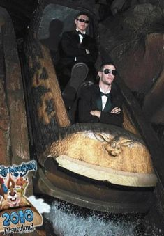 I applaud these gentlemen...http://www.buzzfeed.com/donnad/the-best-staged-splash-mountain-photos