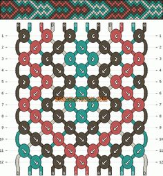 Normal Friendship Bracelet Pattern #2424 - BraceletBook.com