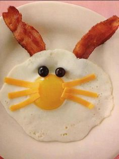 Ideen zu Ostern. Osterfrühstück. Breakfast Bunny | Recipes Fun Food | Beautifully Delicious -cute! Check out the website