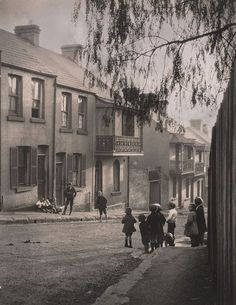 Once a slum immortalised in The Harp in the South by Ruth Park. Now achingly trendy. Great architecture, tree lined streets and marvellous boutiques. An image of A Surry Hills alleyway by Harold Cazneaux, 1911 Amsterdam Jordaan, Sydney City, Surry Hills, Alleyway, History Of Photography, Harbin, Slums, Sydney Australia, Park
