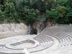 The Teatre Grec, located on Montjuïc, was built for the 1929 Barcelona International Exposition. Inspired by the Greek Epidaurus theatre, it has been home to Barcelona's summertime outdoor cultural event, the Festival Grec, since 1976. #Barcelona #Gardens