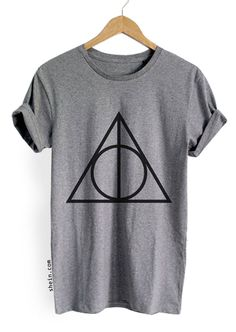 Heather Grey Geometric Print T-shirt