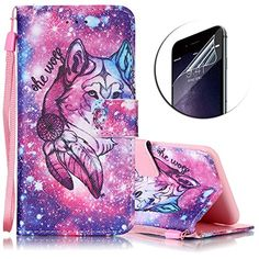 Coque Housse Etui iPod Touch 5 / 6, Sunroyal® Portefeuille PU Cuir Wallet Case Cover Dragonne Strap Portable Swag Rabat Flip Skin Shell de…