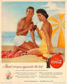 Si estabas en la playa tenias que tomar una Coca-Cola