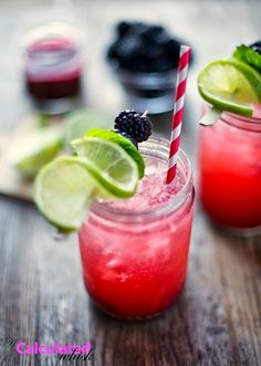 Blackberry smash: the perfect spring cocktail made with fresh berries, honey or agave, lime, and mint.