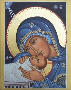 Nativity by Liesbeth Smulders Religious Images, Religious Icons, Religious Art, Byzantine Icons, Byzantine Art, Virgin Mary Art, Jesus Mary And Joseph, Paint Icon, Christian Artwork
